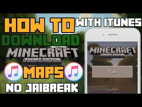 How to download minecraft pe maps iOS 9 with itunes (no jailbreak) (with computer)