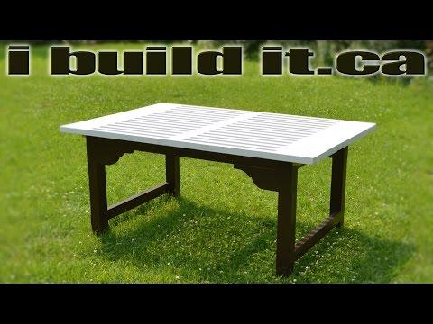 Building An Outdoor Workbench