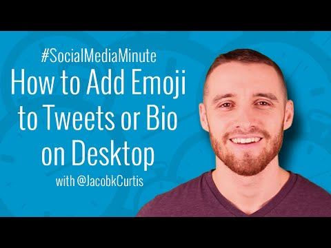 [HD] How to Add Twitter Emoji to Tweets or Bio on Desktop - #SocialMediaMinute