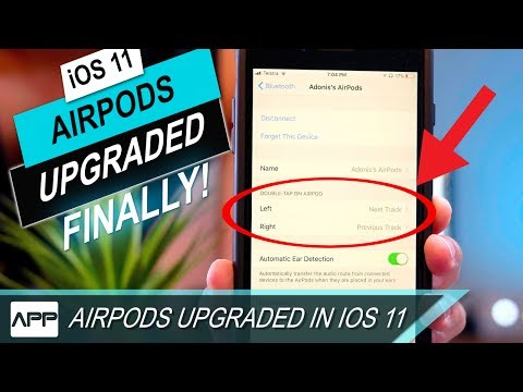 Apple AirPods New Features in iOS 11 Double Tap to Change Track