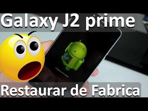 Samsung Galaxy J2 prime Como Restaurar de Fabrica - Comoconfigurar