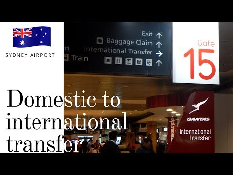 How to transfer terminals at Sydney airport   SYD domestic to international
