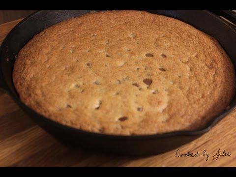 Skillet Chocolate Chip Cookie - Cooked by Julie - Episode 37