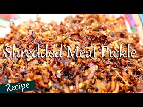 Shredded Meat Pickle   Naga Style