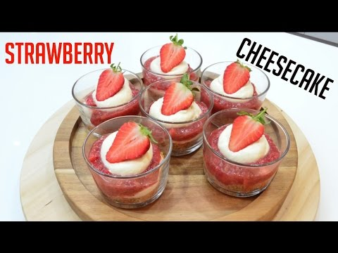 Strawberry CheeseCake Recipe | 1 minute recipe |No Bake | #CookwithAnisa #recipeoftheday #CheeseCake
