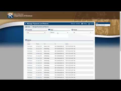 My Tax Account - New User Webinar for April 10 2018