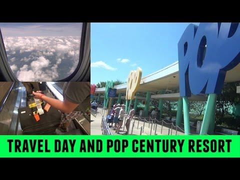 TRAVEL DAY & POP CENTURY RESORT | Walt Disney World Vacation April 2016 Part 1