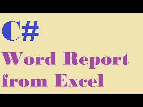 C# How to create Word report from Excel using template - Demo