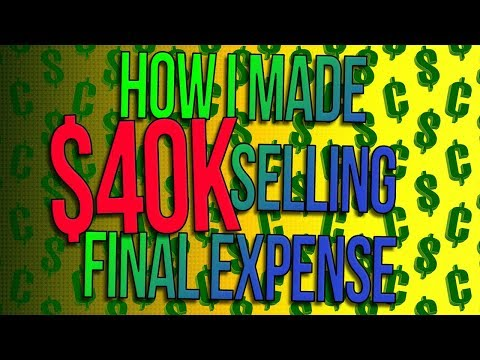 How I made 💲40K in 2 Weeks Selling Final Expense Life Insurance - Big Money Monday 💰