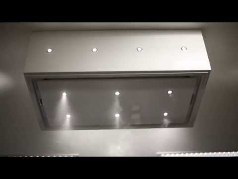 Anzi ceiling extractor Drop Down Box White with LED lighting