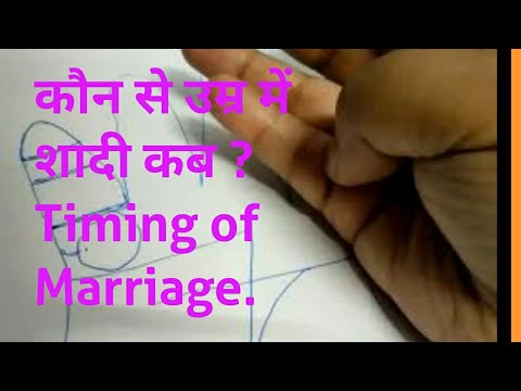 किस उम्र में आप विवाह होगा?when will you get married?Timing of marriage/Palmistry in Hindi