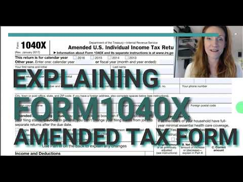 Form 1040X: Amended Personal Income Return (For Form 1040)