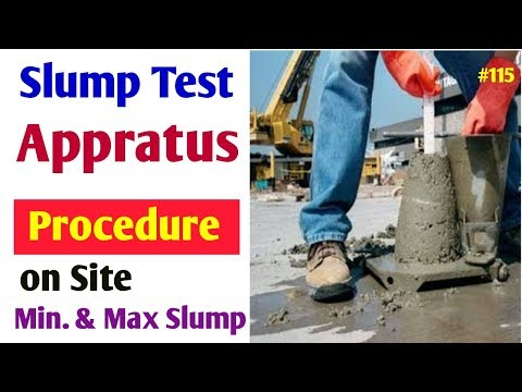 Concrete Work ability test at side | Slump cone test procedure