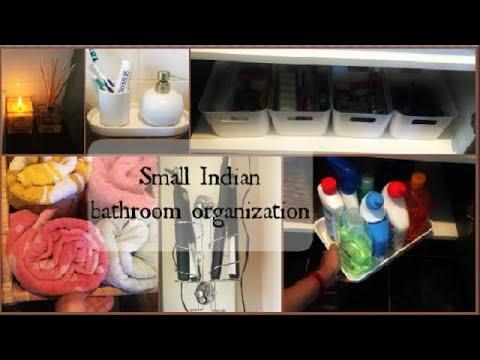 Small Indian bathroom organization | unfurnished bathroom storage ideas | Indian bathroom tour