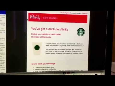 How to activate the Starbucks reward to your vitality account -