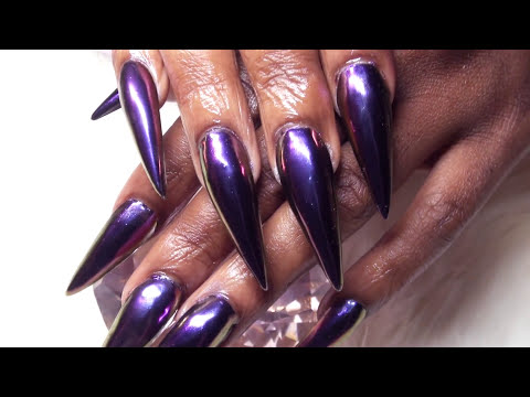 HeraViolet Chameleon Chrome Claws using Nail Forms