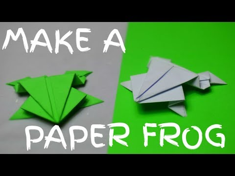 How to make a paper frog that jumps high