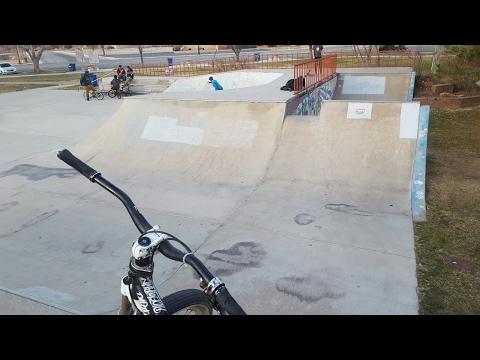 The Moab skatepark on my dirt jumper