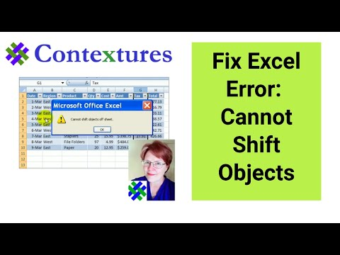 Fix Cannot Shift Objects Error in Excel 2007