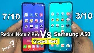 Redmi Note 7 Pro vs Samsung A50 Speed Test Comparison    Antutu Benchmark Scores/Rs14000 vs Rs20000