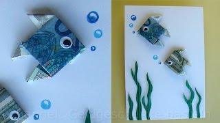 Geldscheine Falten Fisch Tiere Basteln Für Geldgeschenke