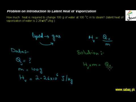 Problem on Introduction to Latent Heat of Vaporization