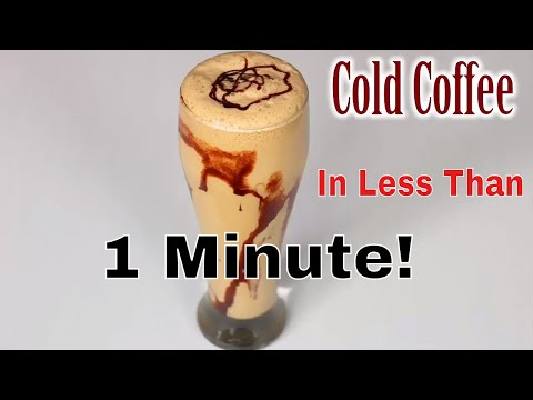 Make Cold Coffee In less than 1 Minute! (Quick and Fast) By DIY CHANNEL