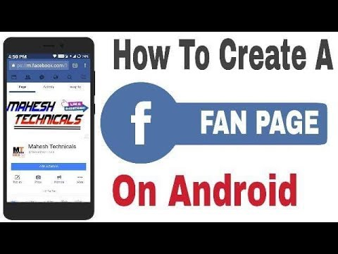 How To Create A Facebook Fan Page On Android