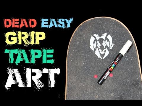 How To Easy Custom GripTape Art Tutorial!