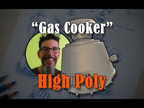 Build A Prop : Gas Cooker - High Poly