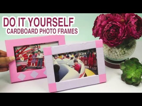 How to make photo frame stand|Frame stand from cardboard