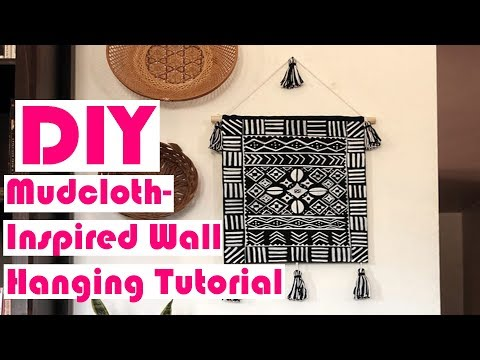 DIY Mudcloth Inspired Wall  Hanging Tutorial