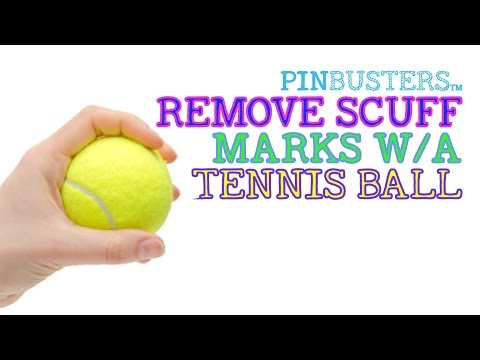 Remove Scuff Marks With Tennis Ball // DOES THIS PINTEREST PIN WORK?