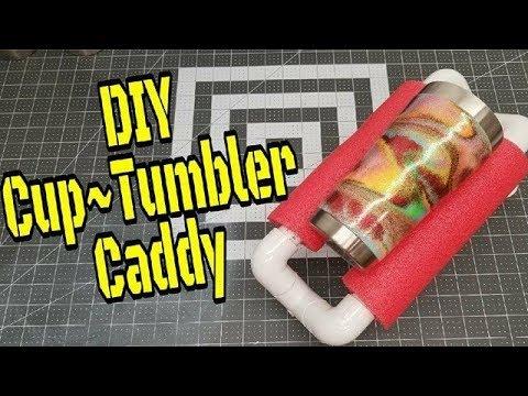 DIY Epoxy Cup Tumbler Caddy