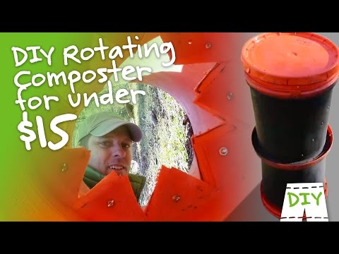 How To Make A DIY Rotating Composter From 2 Buckets