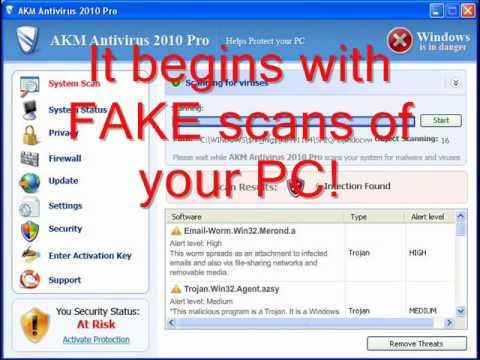 AKM Antivirus 2010 Pro Spreading Poison