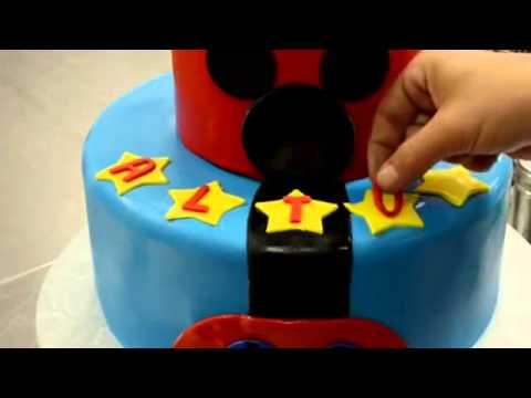 How to make cake Two Tier Mickey Mouse Cake decorating process   How to cake videos