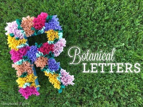 DIY Botanical Letter