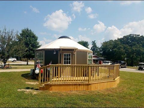 Yurt Campsite in Texas - Mill Creek Ranch Resort 877-927-3439