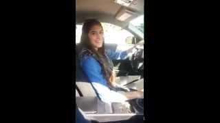 فتاة تفحط وتستعرض بسيارة نيسان - تفحيط لبنانية