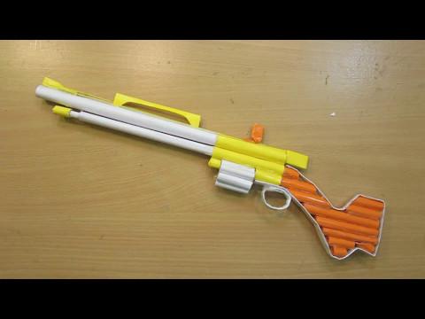 How to Make a Paper Gun that Shoots (Hunting Shotgun / Assault Rifle )- Easy Paper Gun Tutorials