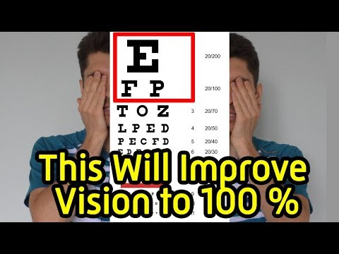 5 exercises to improve  eyesight  with myopia without surgery-How to improve your vision at home