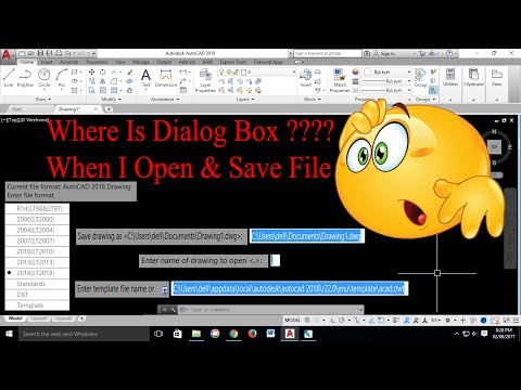 File Save,Open,Save As,New Dialog Box Missing In AutoCAD - Filedia Command - Tips & Tricks