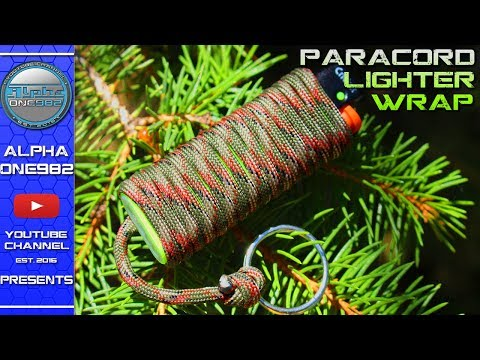 How To Make Paracord Lighter Holder Fast and Easy - Wrap Quick Release Keyfob DIY