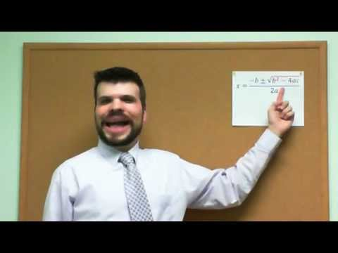 Quadratic Formula song - funny face