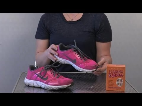 How to Remove Odors From Tennis Shoes at Home : Cleaning Shoes