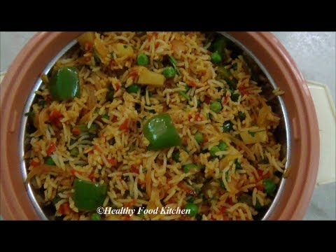 Spicy Vegetable Pulao - Variety Rice Recipe By Healthy Food Kitchen