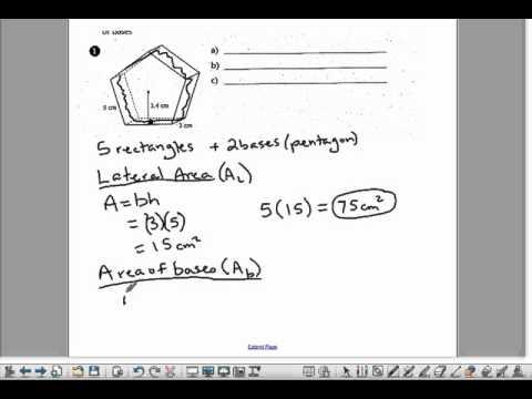 8 Total Area of Pentagonal Prism