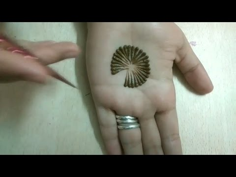 Easy simple flowing Mehndi Heena designs Tutorial-mehndi design for hands..