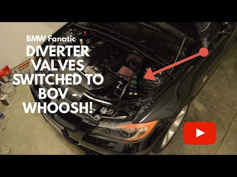 My BMW N54 335i Forge Motorsport Diverter Valves Switched To BOV! Sound Clip!
